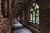 Galerie gothique dans le château de malbork — Photo