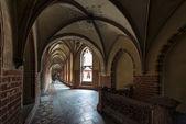 Corredor no castelo de malbork, polônia — Foto Stock