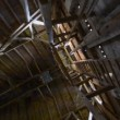 Stock Video: Old wooden barn roof