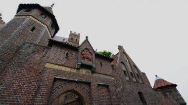 Castelo de malbork, na polônia — Vídeo Stock