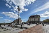 Monument of King Waza in Warsaw — Stock Photo