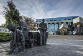 Warsaw Uprising Monument in Warsaw, Poland during summer. — Stock Photo