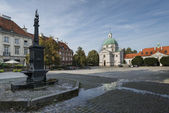 Panorama of New Town Square in Warsaw, Poalnd — Stock Photo