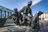 Warschauer Aufstand-Denkmal in Warschau - closeup — Stockfoto