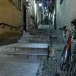 Old street named Stone Steps on Warsaw Old Town — Stock Photo