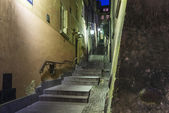 Historic street Stone Steps (Kamienne schodki) in Warsaw — Stok fotoğraf