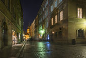 Warsaw Old Town at night — Stock Photo