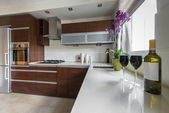 Modern kitchen interior design — Stock Photo
