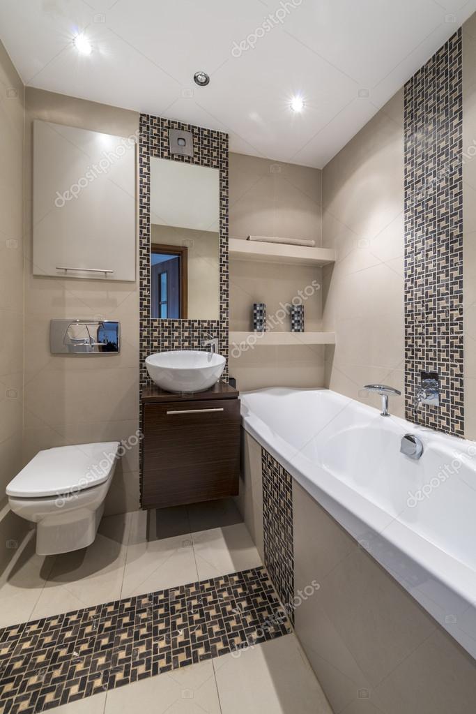 Diseño de interiores moderno cuarto de baño — Foto de stock ...
