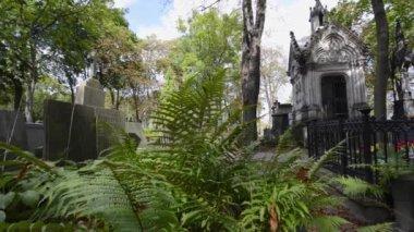 Stare groby w Warszawie zabytkowego cmentarza, Powązkowskim w Polsce — Wideo stockowe