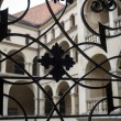 Handrail and balcony in old Palace, Poland — Stock Photo