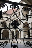 Handrail and balcony in old Palace, Poland — Stock Photo