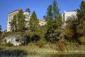 Castelli medievali costruiti su rocce inaccessibili in Polonia — Foto Stock