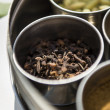 Cloves in metal bowl — Stock Photo