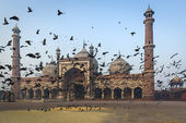 The mosque Jama Masjid in Delhi — Stock Photo