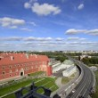 View to Royal Palace from Sait Anna church tower — Stock Video