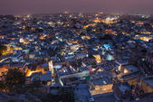 Sundown over Jodhpur city in Rajasthan state in India. — Stockfoto