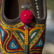 Colorful Indian style ladies slippers — Stock Photo