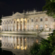 The Lazienki palace in Lazienki Park at night, Warsaw — Stock Photo