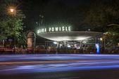 Warszawa Powisle at night — Stock Photo