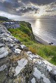 Sundown over Downhill coastline — Stock Photo