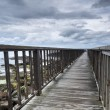 Stock Photo: Wooden path on Irish seaside