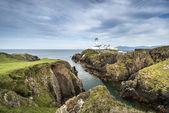 белый маяк, находится голова, северная ирландия — Стоковое фото