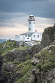White lighthouse at Fanad Head, Coast of Donegal, Ireland — Foto Stock