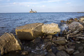 Baltic sea coastline with old ruins — Stock Photo