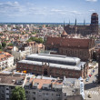 Stock Photo: Panorama of Gdansk city in Tricy