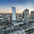 Panorama of Warsaw city, Poland — Stock Photo