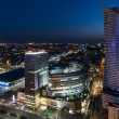 Night panorama of Warsaw city center — Stock Photo #29368395