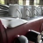Old vintage espresso machine — Stock Photo #30876487