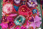 Tissu traditionnel de guatémaltèque à la main — Photo