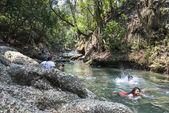 Hot water springs Finca Paraiso, Guatemala — Stock Photo