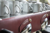 Old vintage espresso machine — Stock Photo