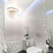 White, luxury stylish bathroom — Foto Stock