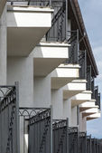 Balconies in a row — Stock Photo