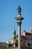 King Zygmunt III Waza Column on Castle Square in Warsaw — Stock Photo