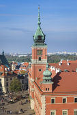 Royal Castle a historic monument in Warsaw — Stock Photo