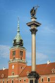 Castle Square with king Sigismund III Vasa column, Warsaw. — Stock Photo
