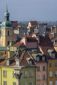 Tenements facades of Old Town in Warsaw — Stock Photo