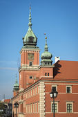 Towers of the Royal Palace in Warsaw, Poland — Stock Photo
