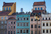 Colorful old houses in the Main Town square, Warsaw — Stock Photo