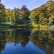 Small lake in Lazienki Krolewskie Park in Warsaw — Stock Photo