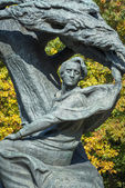 Close Up of Frederic Chopin Monument in Warsaw — Stock Photo