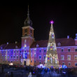 Royal Castle in Warsaw during Christmas time — Stock Photo #37878319