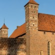 Stock Photo: Towers of old Gothic medieval castle in Lidzbark Warminski
