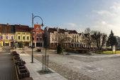 Main square of Lidzbark Warminski, historic town — Stock Photo