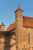 Towers of old Gothic medieval castle in Lidzbark Warminski — Stock Photo